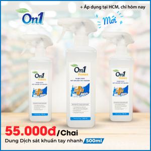 Dung dịch sát khuẩn tay nhanh On1 Protect hương BamBoo Charcoal chai xịt 500ml C0202