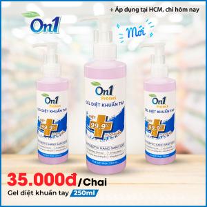 Gel Rửa Tay khô sạch khuẩn nhanh On1 Protect hương BamBoo Charcoal chai nhấn 250ml C0102