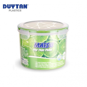 Hộp Nhựa Tròn Đựng Thực Phẩm Duy Tân Matsu dung tích 1500ml - 03451