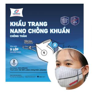Khẩu trang kháng khuẩn NANO bạc HANVICO (Bộ 2 chiếc)