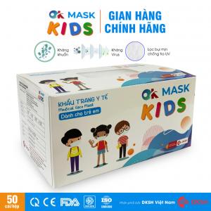 Khẩu trang y tế trẻ em 3 lớp kháng khuẩn OK MASK KIDS Nam Anh