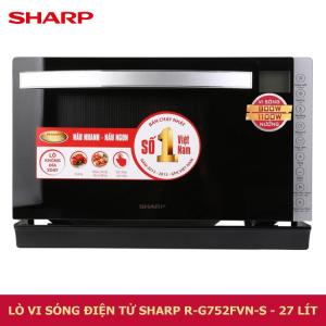 Lò vi sóng điện tử có nướng Sharp R-G752FVN-S - 27 lít