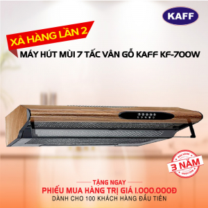 Máy hút mùi bếp 7 tấc KAFF KF-700W Vân Gỗ