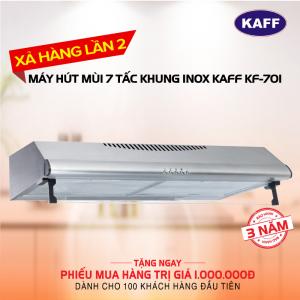 Máy hút mùi bếp 7 tấc Khung INOX KAFF KF-70i