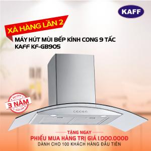 Máy hút mùi bếp kính cong 9 tấc KAFF KF-GB905