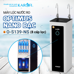 Máy lọc nước RO 2 vòi KAROFI OPTIMUS O-S139-NS (9 cấp lọc)