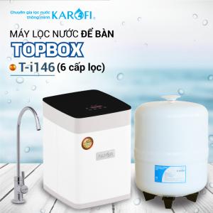 Máy lọc nước RO để bàn, gầm tủ KAROFI TOPBOX T-i146 (6 cấp lọc)