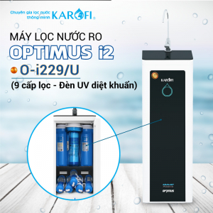 Máy lọc nước RO KAROFI OPTIMUS i2 O-i229/U (9 cấp lọc - Đèn UV diệt khuẩn)