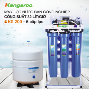 Máy lọc nước RO không tủ bán công nghiệp KANGAROO KG-200 (6 cấp lọc)