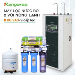 Máy lọc nước RO nóng lạnh 2 vòi KANGAROO KG09A3 (9 cấp lọc - Bao gồm tủ cường lực)
