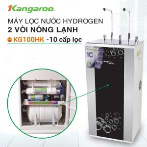 Máy lọc nước RO nóng lạnh 2 vòi KANGAROO KG100HK (10 cấp lọc - Lõi Hydrogen)