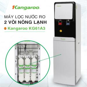 Máy lọc nước RO nóng lạnh 2 vòi KANGAROO KG61A3 (5 cấp lọc - Làm lạnh nhanh bằng Block)