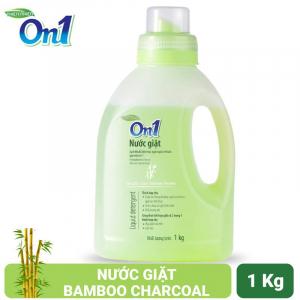 Nước giặt On1 hương Bamboo Charcoal 1Kg - Sạch khuẩn, khử mùi, kết hợp giặt xả 2 trong 1 - NGB1