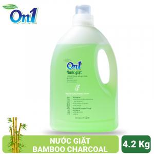 Nước giặt On1 hương Bamboo Charcoal 4.2Kg - Sạch khuẩn, khử mùi, kết hợp giặt xả 2 trong 1 - NGB4