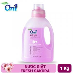 Nước giặt On1 hương Fresh Sakura 1Kg - Sạch khuẩn, khử mùi, kết hợp giặt xả 2 trong 1 - NGS1