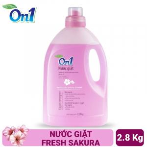 Nước giặt On1 hương Fresh Sakura 2.8Kg - Sạch khuẩn, khử mùi, kết hợp giặt xả 2 trong 1 - NGS2
