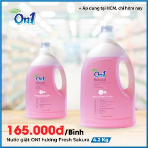 Nước giặt xả 2 trong 1 On1 hương Fresh Sakura 4.2Kg - NGS4