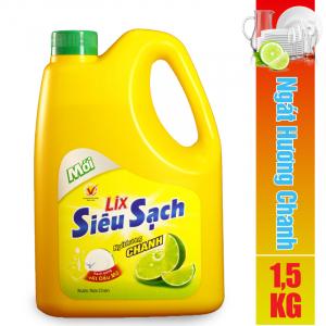 Nước rửa chén Lix siêu sạch hương chanh 1.5Kg - NS002
