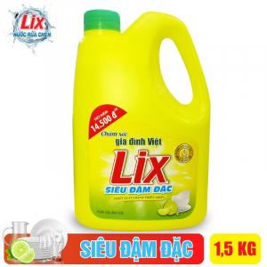 Nước rửa chén Lix siêu đậm đặc hương chanh 1.5Kg - NC15