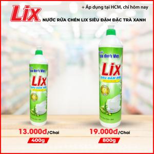 Nước rửa chén Lix siêu đậm đặc trà xanh 800g - TX80T