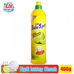 Nước rửa chén Lix siêu sạch hương chanh 400g - NS401