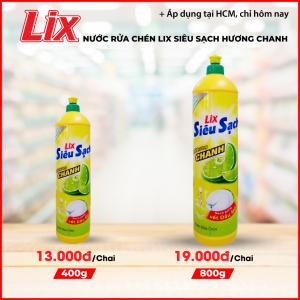 Nước rửa chén Lix siêu sạch hương chanh 800g