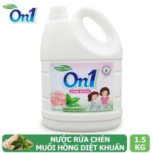 Nước rửa chén On1 hương muối hồng trà xanh 1.5Kg - Sạch bóng vết dầu mỡ - M4ON1