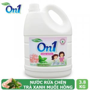 Nước rửa chén On1 hương muối hồng trà xanh 3.8Kg - Sạch bóng vết dầu mỡ - M5ON1