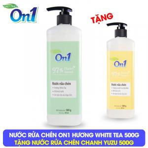 Nước rửa chén On1 hương White Tea 500g - Tặng Nước rửa chén On1 500g - Combo 51