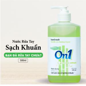 Nước Rửa Tay ON1 500ml Sạch Khuẩn Hương BamBoo Charcoal