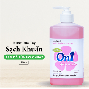 Nước rửa tay sạch khuẩn On1 500ml hương Fresh Sakura - RT501