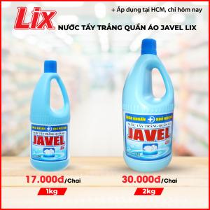 Nước tẩy trắng quần áo Javel Lix 2Kg - Sạch khuẩn - JL200