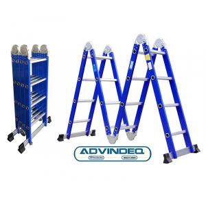 Thang nhôm gấp gọn đa năng 4 đoạn Advindeq ADM104 - Xanh