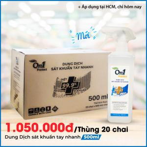 Thùng Dung dịch sát khuẩn tay nhanh On1 Protect hương BamBoo Charcoal chai xịt 500ml C0202