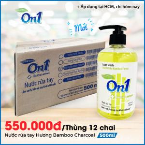 Thùng Nước Rửa Tay sạch khuẩn On1 Hương Bamboo Charcoal 500ml