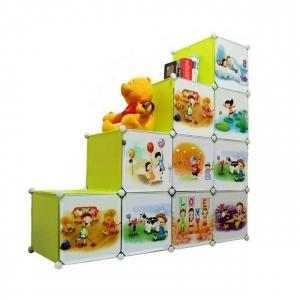 Tủ nhựa đa năng 10 ngăn Tupper Cabinet TC-10Y-C (Vàng cửa hoạt hình)