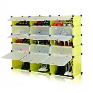 Tủ giày dép đa năng 15 ngăn Tupper Cabinet TC-15Y-W (vàng cửa trắng)