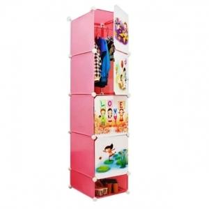 Tủ quần áo đa năng 5 ngăn Tupper Cabinet TC-5P-C (Hồng)