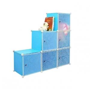 Tủ nhựa đa năng 6 ngăn Tupper Cabinet TC-6BL-W (Xanh phối trắng)