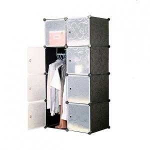 Tủ quần áo đa năng 8 ngăn Tupper Cabinet TC-8B-W (Đen cửa trắng)