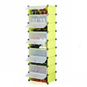 Tủ giày dép đa năng 9 ngăn Tupper Cabinet TC-9Y-W (Vàng cửa trắng)
