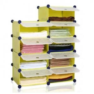 Tủ nhựa đa năng 9 ngăn Tupper Cabinet TC-9Y-W2 (Vàng cửa trắng)