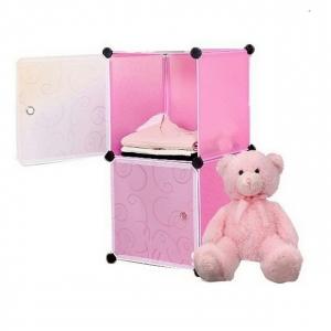 Tủ nhựa đa năng Tupper Cabinet 2 ngăn TC-2P-W (hồng cửa trắng)