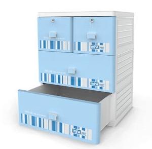 Tủ Nhựa Duy Tân Mina (3 tầng - 4 ngăn)
