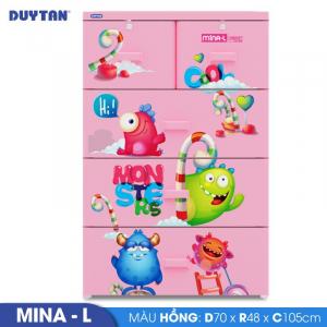 Tủ nhựa Duy Tân Mina L - 4 tầng 5 ngăn - Nhiều màu - 915/4