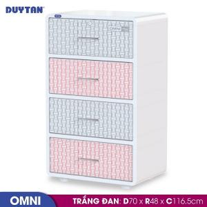 Tủ nhựa Duy Tân Omni 4 tầng - Nhiều màu - 1366/4
