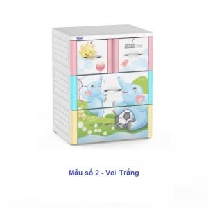 Tủ Nhựa Duy Tân Tabi-M (3 tầng - 4 ngăn)