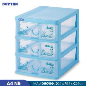 Tủ nhựa Duy Tân Tomi A4 nắp bằng - 3 ngăn - Nhiều màu - 343/3