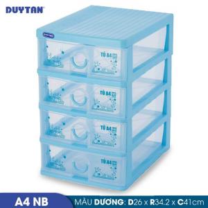 Tủ nhựa Duy Tân Tomi A4 nắp bằng - 4 ngăn - Nhiều màu - 343/4