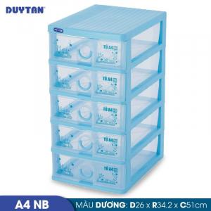 Tủ nhựa Duy Tân Tomi A4 nắp bằng - 5 ngăn - Nhiều màu - 343/5
